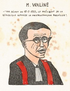 Six caricatures professorales